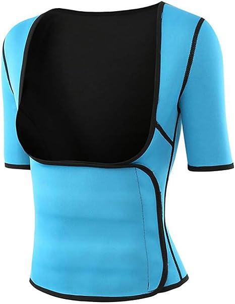 Unbekannt Mujeres Sudor Caliente Camisa de Neopreno Adelgazante Chaleco Modeladores del Cuerpo para Fat Burner: Amazon.es: Deportes y aire libre