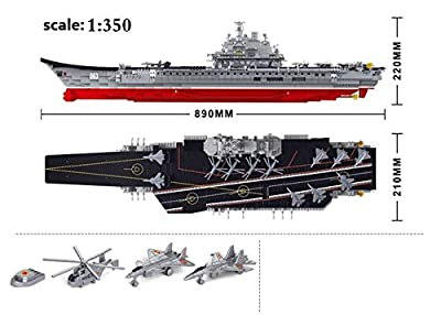 Sluban Chinese Navy 'Liao ning' Aircraft Carrier 1875 Building Block Set Lego Compatible