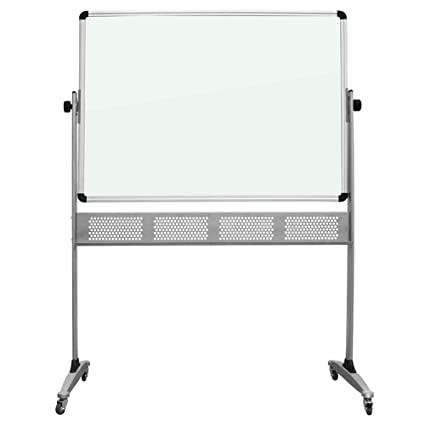 Amazon Com Mobile Glass Dry Erase Board Double Sided Glass