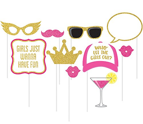 Ladies Night Decorations - 10-Piece Photo Props For Party, Girls