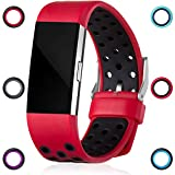 GEAK Fitbit Charge 2 Bands, Replacement Accessories for Fitbit Charge2 HR, Small Size Band, Red / Black