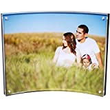 Peugeot Paul Premium Quality 8x10 Curved Acrylic Picture Frame with 4 Corner Magnetic Magnet Lock Closure, Ultra Thick, 16mm Total Thickness