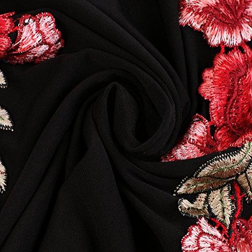 Gazechimp Vestido de Mujer Off Shoulder Ruffled Collar Diseño de Bodycon Hip Party Dress negro