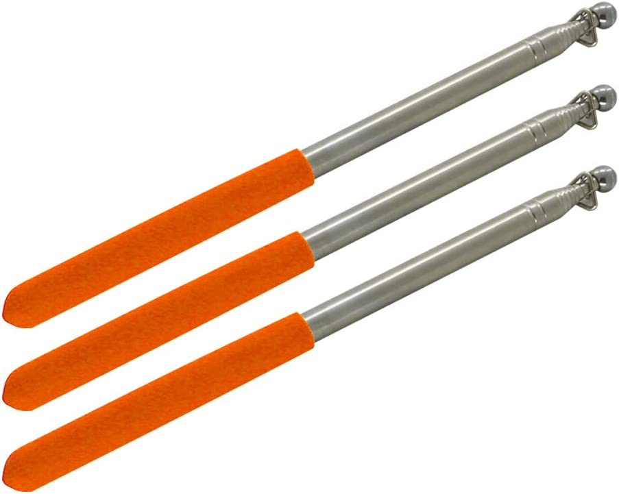 Othmro Telescoping Flagpole Pointer for Teacher 100CM Length Extendable Stainless Steel Pole Red Sponge Handle 1Pcs