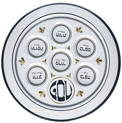 Rite Lite Traditions Melamine Seder Plate - Seder Plate