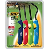 BIC Multi-purpose Classic Edition Lighter & Flex Wand Lighter, 4-Pack