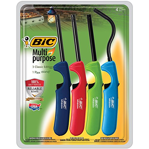 BIC Multi-Purpose Lighter, 4 Lighter Value Pack