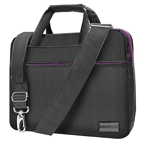 "Metal Grey Purple Briefcase Messenger Bag for DBPower 9.5-Inch 10.5"" Portable DVD Player -  Vangoddy, DBPower10PNINO"