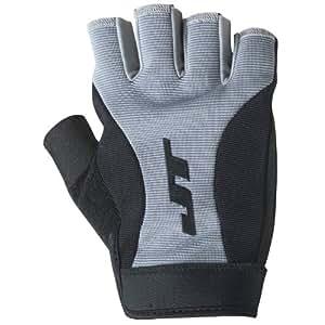 JT Fingerless Paintball Gloves, Black/Grey