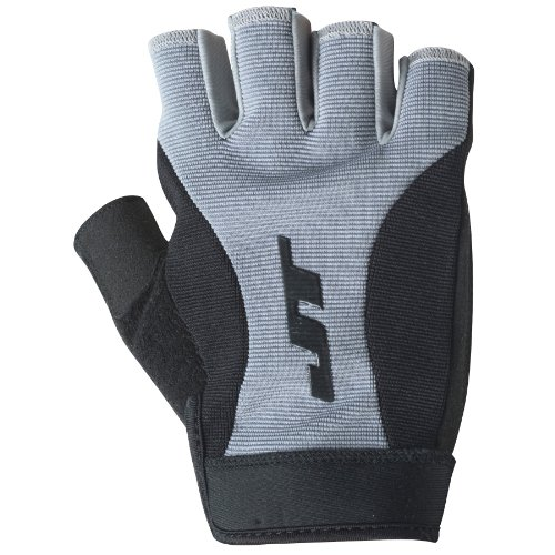 JT Fingerless Paintball Gloves, Black/Grey