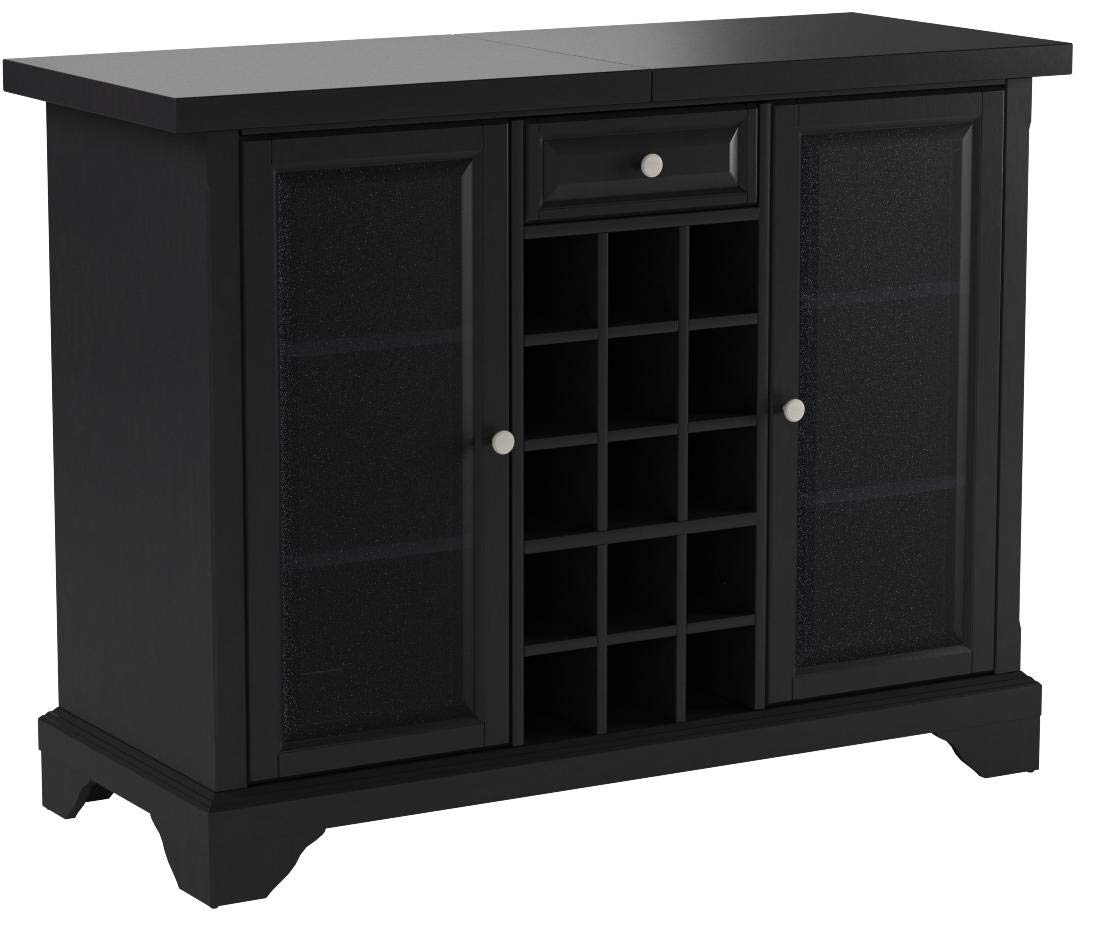 Crosley Furniture Lafayette Sliding Top Bar Cabinet - Black by Crosley Furniture