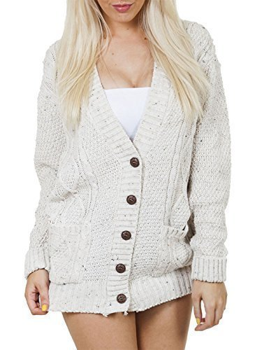 Cream Cardigan Sweater - 4