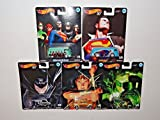 hot wheels mini van - Hot Wheels Pop Culture 2018 Alex Ross DC Heroes Series Premium Adult Collectible Diecast Cars, Set of 5