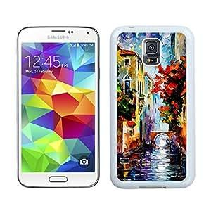 BINGO discount Painting Venice Samsung Galaxy S5 Case White Cover wangjiang maoyi
