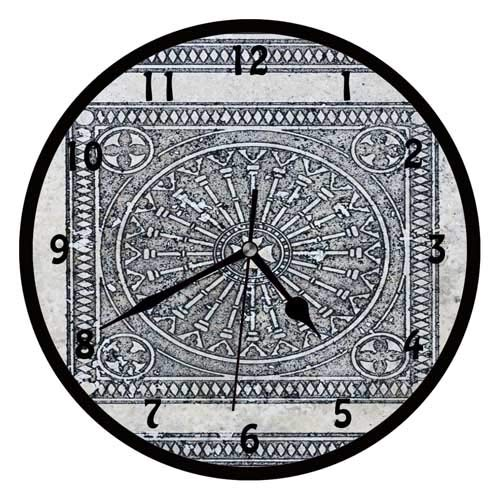 47BuyZHJX Ceramic Tiles Oriental-Decorative 12 inchs Round Wall Clock,Silent Non Ticking Quartz Battery Operated Black Wall Clock for Home/Office/School.