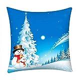 Pgojuni_Pillowcases Merry Christmas Scene Style Pillow Case Polyester Sofa Car Cushion Cover Home Decor Cover Pillow Case1pc (45cm X 45cm) (B)