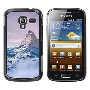 LECELL--Funda protectora / Cubierta / Piel For Samsung Galaxy Ace 2 I8160 Ace II X S7560M -- Mountain Snow Sky High White Blue --