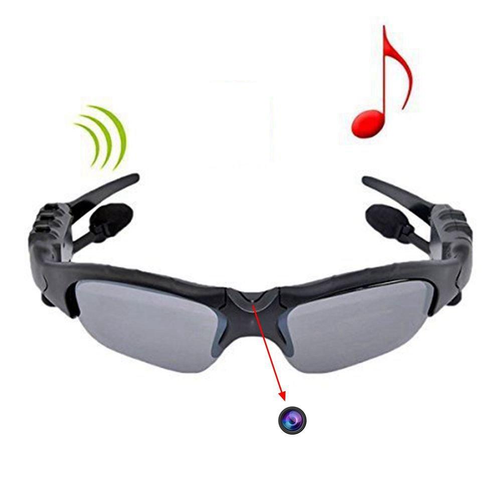 ETTG Sunglasses Camera Sport Glasses, eTTgear 4 in 1 MP3 Player Video Recorder Camcorder Sunglasses Support Micro SD Card HD DVR Built-in Memory (Gray) by ETTG (Image #1)