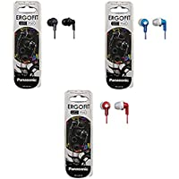Panasonic ErgoFit In-Ear Earbud Headphones - 3 Pack (Assorted Colors)