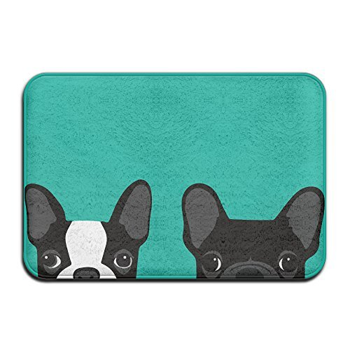 DIYABCD Boston Terrier And French Bulldog Doormats Anti-slip House Garden Gate Carpet Door Mat Floor Pads