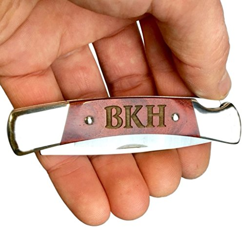 Personalized Engraving on BUCK KNIVES SQUIRE BU501 Folding Pocket Knife - ROSEWOOD HANDLE, Christmas Gifts, Boyfriend, Groomsmen, 5th Anniversary