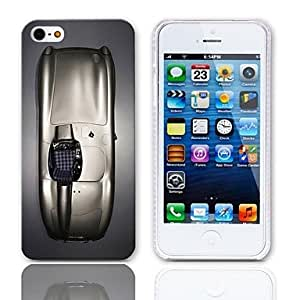 JJESports Car Pattern Hard Case with 3-Pack Screen Protectors for iPhone 5/5S