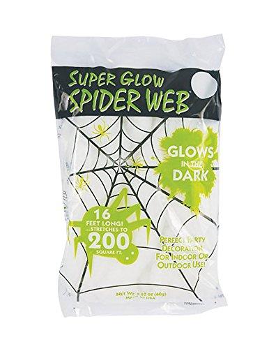 [GLOW IN DARK SPIDERWEB by ALL SEASONS MfrPartNo 9558] (Halloween Decor Online)