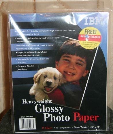 Ibm Photo - IBM Heavyweight Glossy Photo Paper