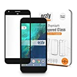 G Pixel XL Screen Protector, Orzly 2.5D Pro-Fit V2 Tempered Glass Screen Protector for Google Pixel XL (5.5 inch model - 2016) - Transparent with BLACK Rim