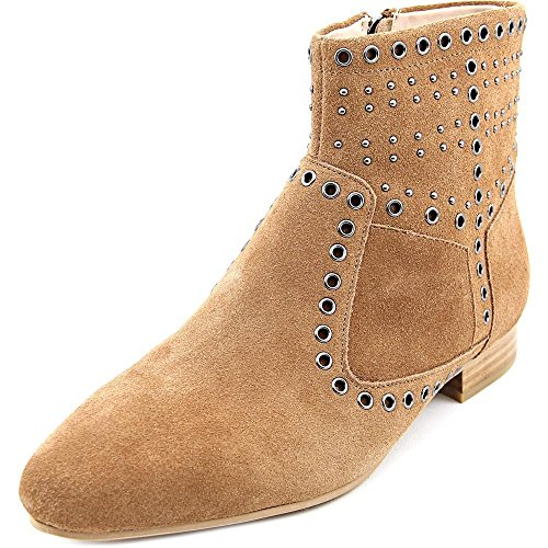 Womens Fashion Charlene Tan Pointed Toe Ankle Leather Connection Boots French O1awqx6