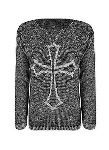 Comfiestyle - Sweat-shirt - Pull - Manches Longues - Femme noir charbon