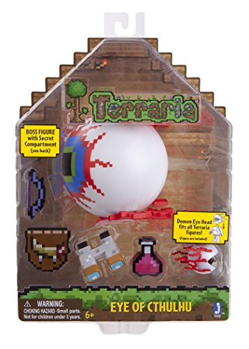 Terraria Deluxe Boss Pack: Eye of Cthulhu Boss Action Figure with Accessories -