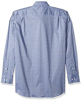 Nautica Men's Big and Tall LS Wrinkle Resistant Stretch Poplin Plaid Button Down Shirt
