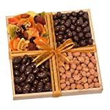 Chocolate, Deluxe Dried Fruit and Flavored Nuts Gift Tray - Lactose Free