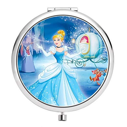 DISNEY COLLECTION Makeup Mirror for Women Girls Cinderella Attends The Ball Pattern -