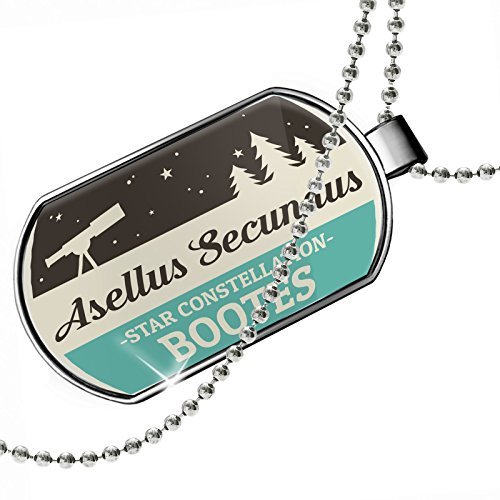 Dogtag Star Constellation Name Bootes - Asellus Secundus Dog tags necklace - Neonblond by NEONBLOND