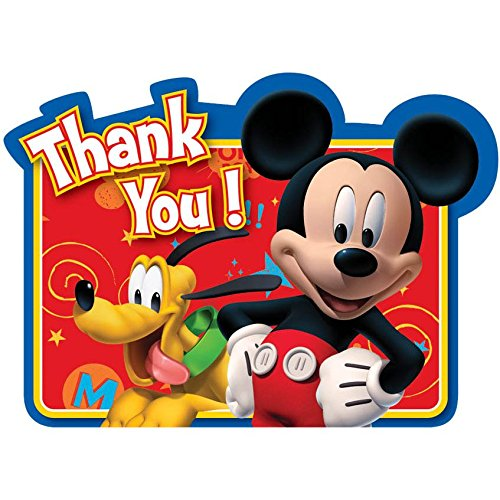 Mickey Mouse Thank You Cards (8 Pack) -