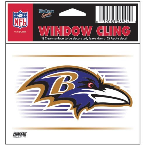 Baltimore Ravens NFL 3x3 Static Window Cling Decal