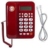 Zopsc Red Wired Telephone, Fixed Landline