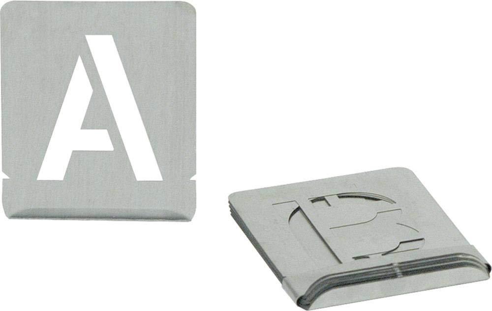 Turnus 327-230 Signierschablonen Set Buchstaben A-Z Schrifthö he 27-teilig, 30mm