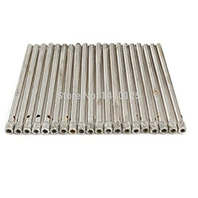 "JOINER 3 mm 1/8"" inch Coated Diamond Hole Saw Core Drill Bit Masonry Drilling Cutter for Glass Marble Tile Granite Gemstone Tools Pack of 20Pcs"