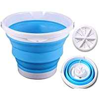 blue Portable Washing Machine,Ultrasonic Turbine Table Washing Machine Small Portable USB Ultra Vibration Washer Underwear and Panties