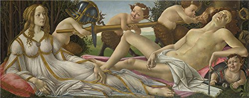 Perfect Effect Canvas ,the Vivid Art Decorative Canvas Prints Of Oil Painting 'Sandro Botticelli Venus And Mars ', 20 X 51 Inch / 51 X 128 Cm Is Best For Home Office Gallery Art And Home Gallery Art And Gifts - Venus And Mars Botticelli