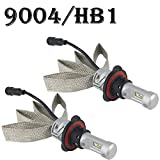 9004 HB1 LED Headlight Bulbs All-in-One Conversion Kit 8000LM 6000K - 6500K LUXEON ZES Chips Car Headlamp Auto Driving Fog Light for Replace Halogen Bulb Headlights ,1 Yr Warranty