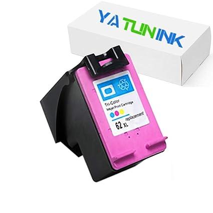 yatunink 1 Pack Tri-color cartucho de tinta reemplazo para HP 62 ...