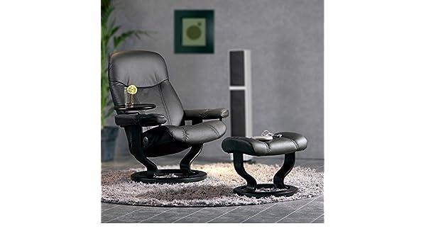 Stressless Consul S Relax sillón con Taburete Negro Small ...