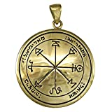 Bronze First Pentacle of Mars Key of Solomon Ceremonial Magic Pendant
