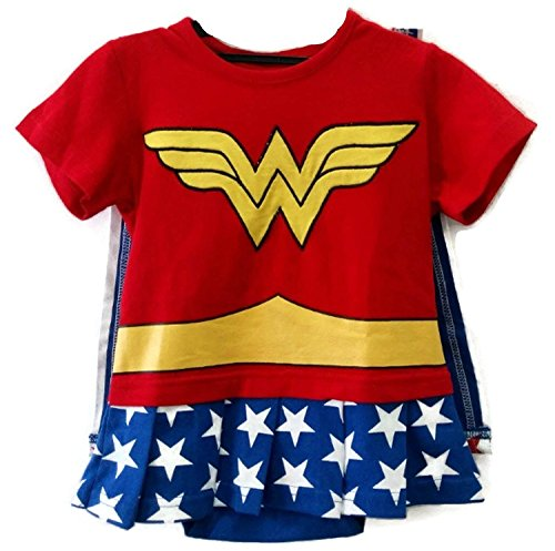 [So Sydney Superhero Onesie Romper for Infant, Baby, Toddler, Boy or Girl (90 (12-18 Months), Wonderwoman - Red &] (Baby Girl Marvel Costumes)