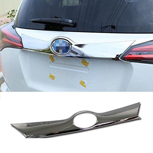 (Rqing For Toyota RAV4 2016 2017 2018 Chrome Rear Trunk Lid Tail Gate Bottom Cover Trim )