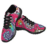 InterestPrint Women's Jogging Running Sneaker Size 8 Seamless Paisley